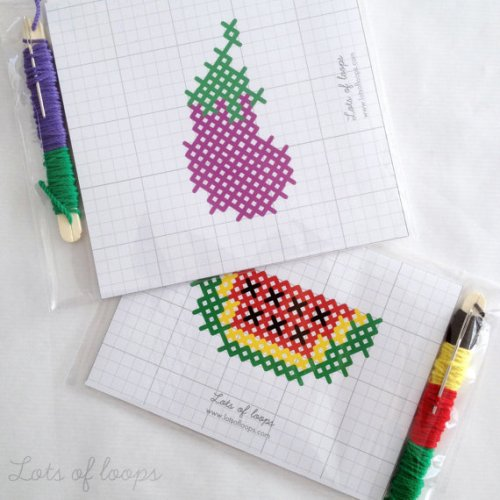 lots of loops, cross stitch